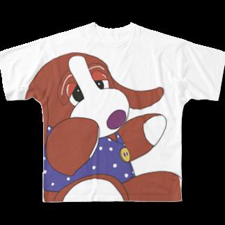 すあだショップのいぬわんたんフルグラフィックTシャツ Full graphic T-shirts