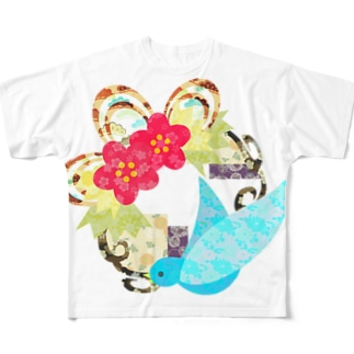 祝福の鳥 フルグラフィックTシャツ