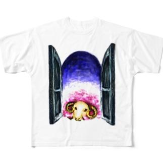 夢見る羊 フルグラフィックTシャツ
