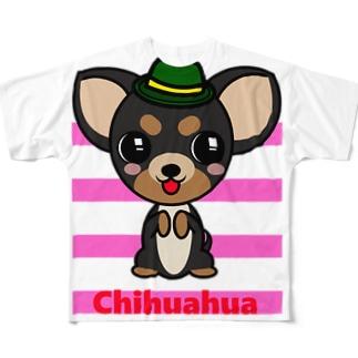 ちんちんチワワ Full graphic T-shirts