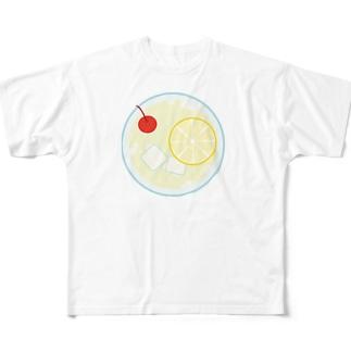 レモンスカッシュの平面図 Full graphic T-shirts
