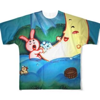 みんなでおフロ♪ Full graphic T-shirts