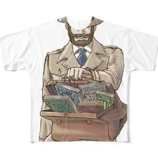 鞄図書館 フルグラフィックTシャツ