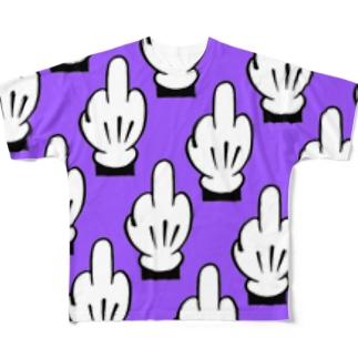Life is****[midnightpurple Full graphic T-shirts