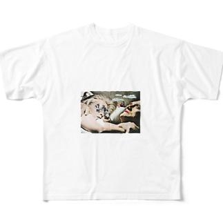 億劫 Full graphic T-shirts