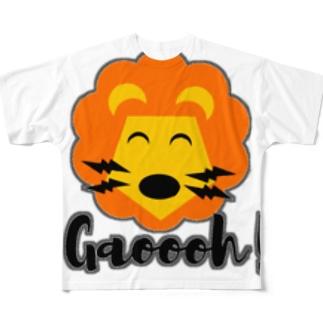 ライオンTシャツ Full graphic T-shirts