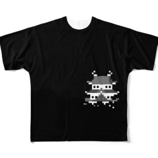 夜のお城 フルグラフィックTシャツ