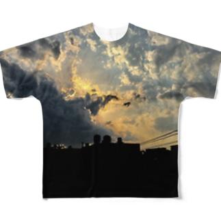 夕闇グラフィック Full graphic T-shirts