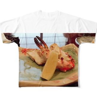焼き蟹グラフィック Full graphic T-shirts