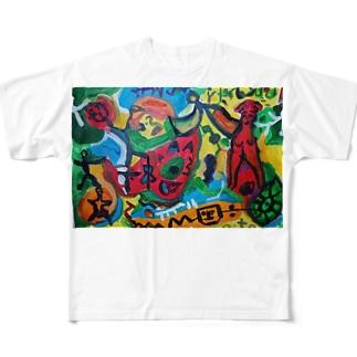 3 Full graphic T-shirts