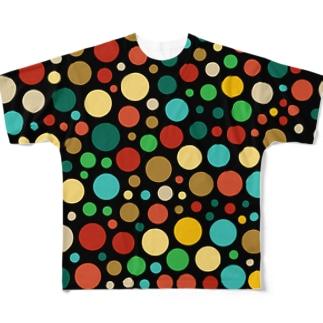 水玉vol.1 フルグラフィックTシャツ