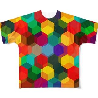 六角形vol.1 フルグラフィックTシャツ
