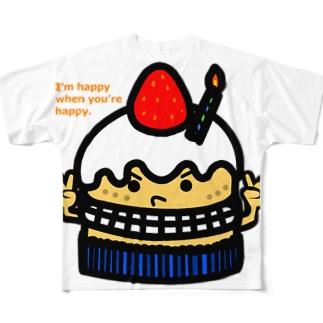 プレゼントケーキ フルグラフィックTシャツ