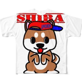 ちんちん柴犬 Full graphic T-shirts