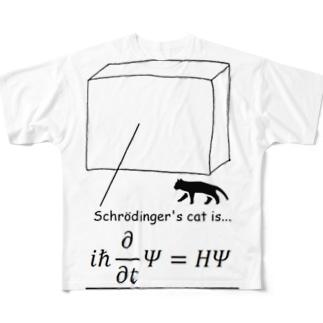 シュレディンガーの猫 Full graphic T-shirts