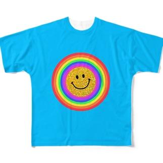 虹色スマイルシリーズ🌈✨ Full graphic T-shirts