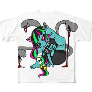 NEKOMATA Full graphic T-shirts