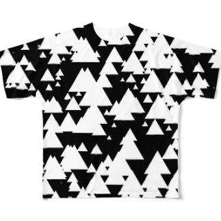さんかく系 フルグラフィックTシャツ