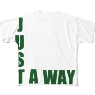 JUST A WAY フルグラフィックTシャツ