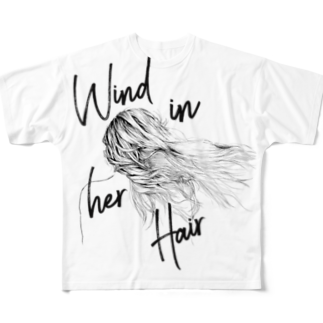 ゆたぽんのWIND IN HER HAIR Full graphic T-shirts
