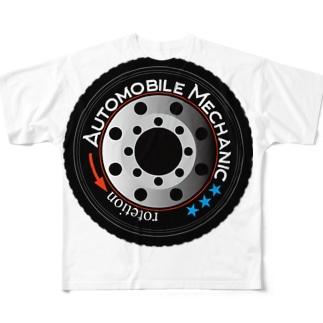 車のタイヤ Full graphic T-shirts
