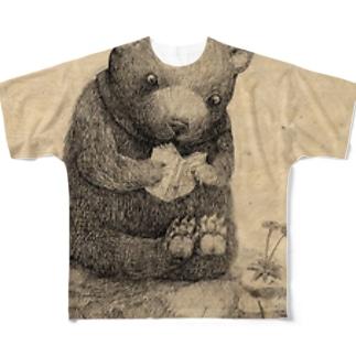 着ぐるみ熊 フルグラフィックTシャツ