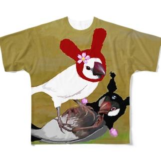 ころがさないで フルグラフィックTシャツ