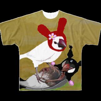 FINCH LIQUEUR RECORDSのころがさないで Full graphic T-shirts