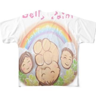 虹と赤ちゃんのベリーペイント フルグラフィックTシャツ