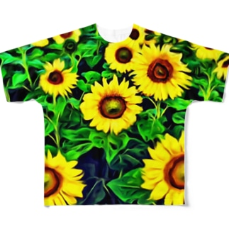 ひまわり畑vol.1 フルグラフィックTシャツ