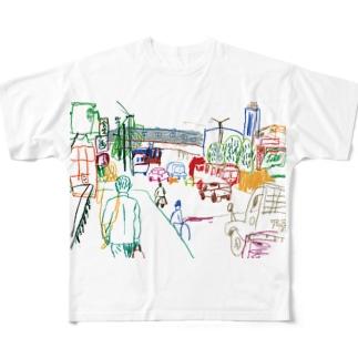大村タイシ街の手帖特別号記念イラスト Full graphic T-shirts