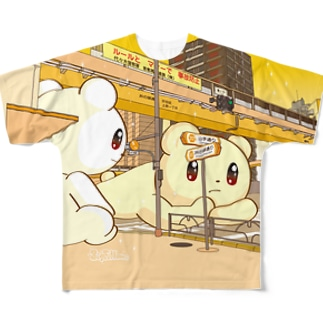 Big Fellows 富ヶ谷交差点 YELLOW Full graphic T-shirts
