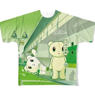 Big Fellows 代々木上原駅 Green フルグラフィックTシャツ