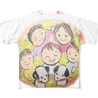 家族の輪 フルグラフィックTシャツ