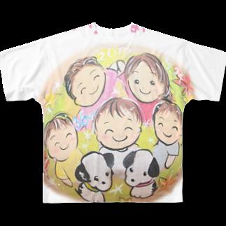 都愛ともかの家族の輪フルグラフィックTシャツ