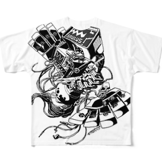 【ROCKOLOID SAULUS】 type-Oscilloscope Full graphic T-shirts