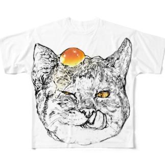 たまごかけねこ フルグラフィックTシャツ