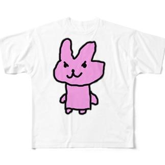 わるいウサギさん フルグラフィックTシャツ