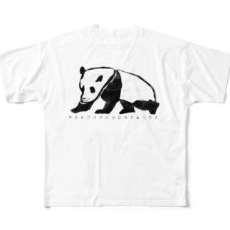 ぱんだ フルグラフィックTシャツ