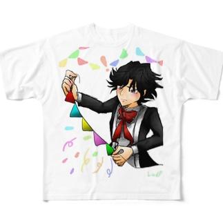【モーツァルトは子守唄を歌わない】ベトちゃん【ベートーヴェン】 Full graphic T-shirts