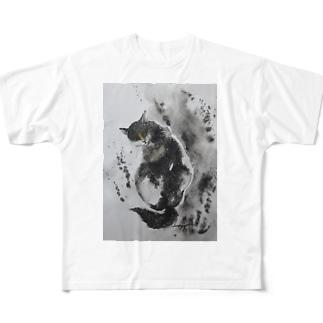 怪しい猫2017 Full graphic T-shirts