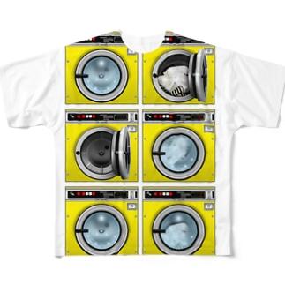 コインランドリー Coin laundry【2×3】 Full graphic T-shirts