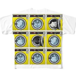 コインランドリー Coin laundry【3×3】 フルグラフィックTシャツ