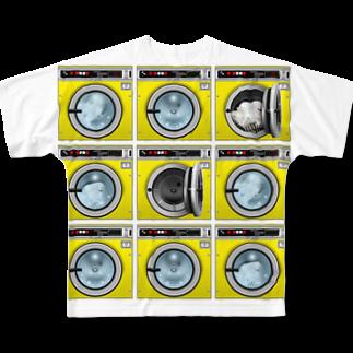 TOMOKUNIのコインランドリー Coin laundry【3×3】 Full graphic T-shirts