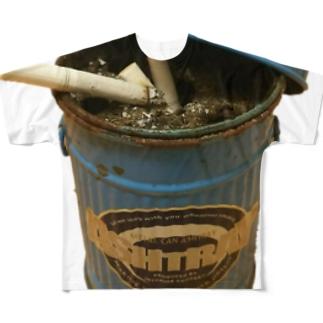 ゴミ箱灰皿 Full graphic T-shirts