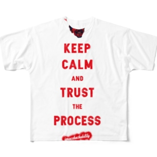 TRUST THE PROCESS -red- Full graphic T-shirts
