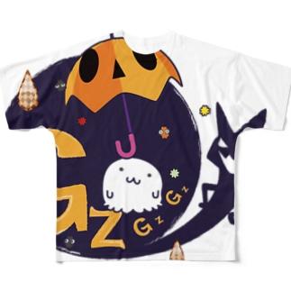 GZGZワールドのなぞーFG フルグラフィックTシャツ