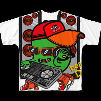 オリジナルデザインTシャツ SMOKIN'のBean DJ Full graphic T-shirts