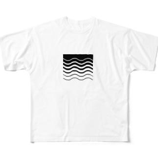SW-黒 フルグラフィックTシャツ