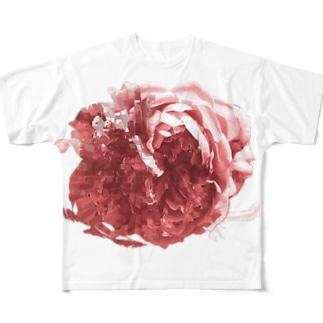 RD_rose_red フルグラフィックTシャツ